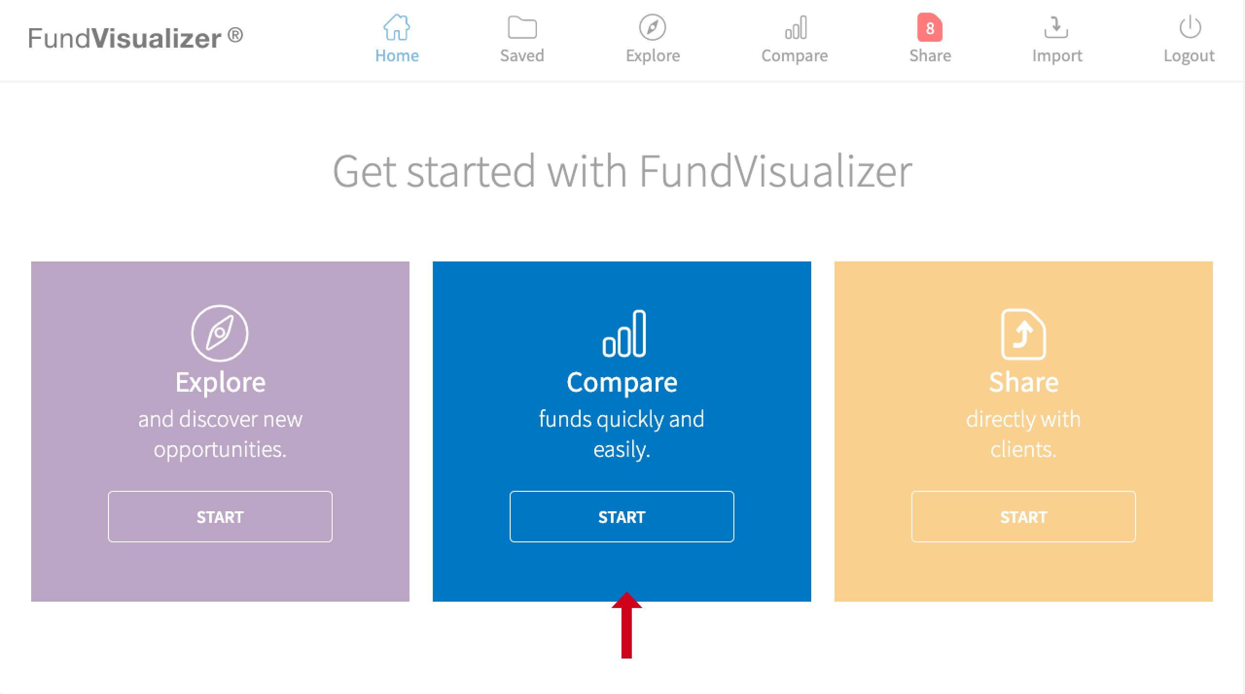 Get Started, Compare Funds